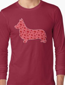 Valentine Hearts Corgi Long Sleeve T-Shirt