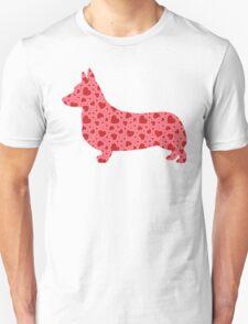 Valentine Hearts Corgi Unisex T-Shirt