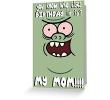 Muscle Man Birthday Greeting Card