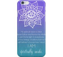 Third Eye Chakra Affirmation iPhone Case/Skin