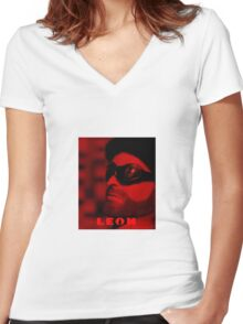 A Plastic World - Leon: The Professional Women's Fitted V-Neck T-Shirt
