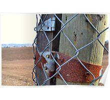 Farm & Fence Poster
