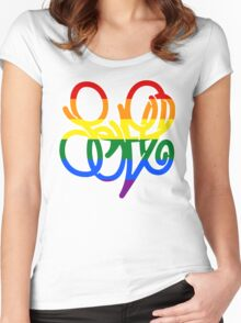 Pride = LOVE Women's Fitted Scoop T-Shirt