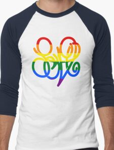 Pride = LOVE Men's Baseball ¾ T-Shirt