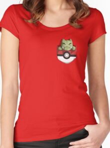 Pocket Substitute (Pokeball) Women's Fitted Scoop T-Shirt
