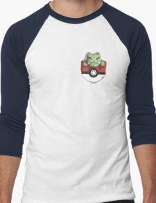 Pocket Substitute (Pokeball) Men's Baseball ¾ T-Shirt