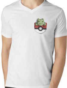 Pocket Substitute (Pokeball) Mens V-Neck T-Shirt