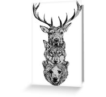 Animal Heads Greeting Card