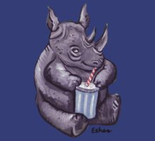 Rhino Drinking Soda Pop by JimEther