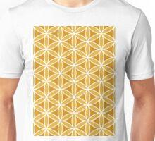 Flower of Life Pattern Oranges & White Unisex T-Shirt
