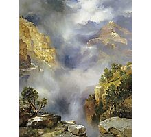 Thomas Moran - Mist In The Canyon. Mountains landscape: mountains, rocks, rocky nature, sky and clouds, trees, peak, forest, rustic, hill, travel, hillside Photographic Print