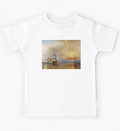 The Fighting Temeraire, 1839, by Joseph Mallord William Turner. on White Kids Tee