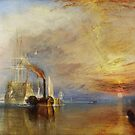 The Fighting Temeraire, 1839, by Joseph Mallord William Turner. on White by TOM HILL - Designer
