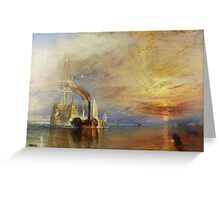The Fighting Temeraire, 1839, by Joseph Mallord William Turner. on White Greeting Card