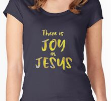 Inspirational: Joy in Jesus  Women's Fitted Scoop T-Shirt