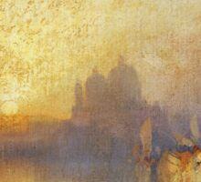 Thomas Moran - Opalescent Venice. Sea landscape: sea view,  yachts,  holiday, sailing boat, coast seaside, waves and beach, marine, seascape, sun clouds, nautical, ocean Sticker