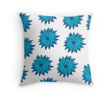 Floral seamless pattern of bright color pretty summer sweet Throw Pillow