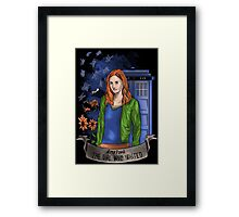 The girl WHO waited. Framed Print