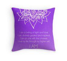 Crown Chakra Affirmation Throw Pillow