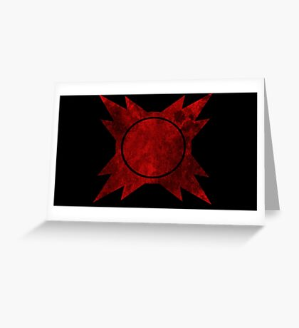 Sith symbol Greeting Card