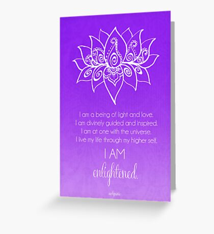 Crown Chakra Affirmation Greeting Card