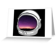Sunset on the Moon on white  Greeting Card