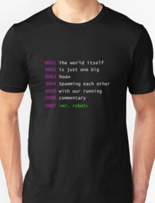 Mr. Robot Quote Unisex T-Shirt