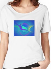 Blue Soothing Abstract Art Women's Relaxed Fit T-Shirt