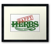 Happy Herbs Framed Print