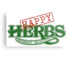 Happy Herbs Metal Print