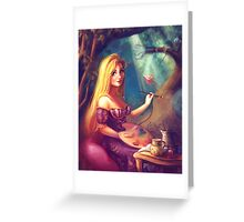 Rapunzel, Adding to her Gallery Greeting Card