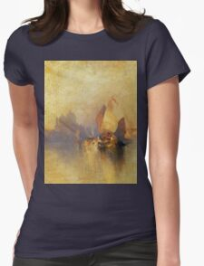Thomas Moran - Opalescent Venice. Sea landscape: sea view,  yachts,  holiday, sailing boat, coast seaside, waves and beach, marine, seascape, sun clouds, nautical, ocean Womens Fitted T-Shirt
