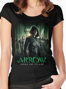 Arrow Heroes and Villains Women's Fitted Scoop T-Shirt