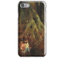 Thomas Moran - Slave Hunt. Forest view: forest , trees,  fauna, nature, birds, animals, flora, flowers, plants, field, weekend iPhone Case/Skin