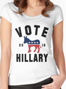 Vintage Vote Hillary Clinton 2016 Womens Shirt Women's Fitted Scoop T-Shirt