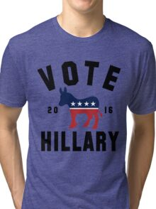 Vintage Vote Hillary Clinton 2016 Womens Shirt Tri-blend T-Shirt