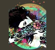Coy - Tattooed Woman, Splashes of Color Unisex T-Shirt