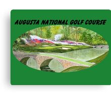 Augusta National Golf Course With Banner Canvas Print