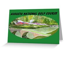 Augusta National Golf Course With Banner Greeting Card