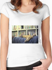 Push me pull mew Women's Fitted Scoop T-Shirt