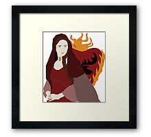 The Red Woman. Framed Print