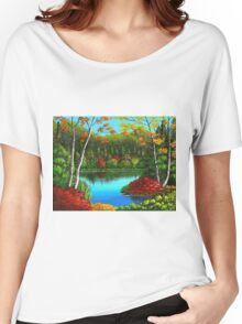 Autumn On The Water Women's Relaxed Fit T-Shirt