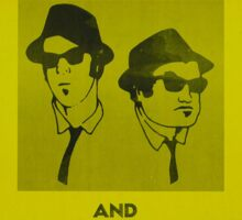 The Blues Brothers Concert Poster Sticker