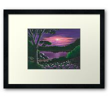 Evening In Purple Framed Print