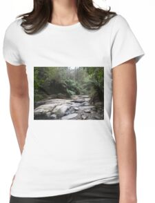 Contrasts!  Erskine Falls, Victoria, Australia.  Womens Fitted T-Shirt