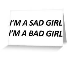 sad girl Greeting Card