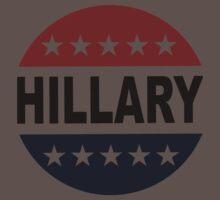 Hillary Clinton 2016 Retro Vote Button Womens Shirt One Piece - Short Sleeve