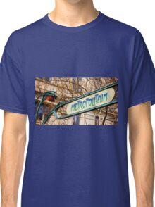 Paris Metro Sign Color Classic T-Shirt