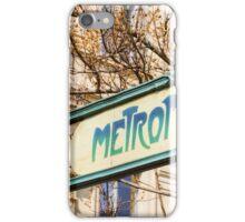 Paris Metro Sign Color iPhone Case/Skin