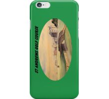 St Andrews Golf Course With Banner iPhone Case/Skin